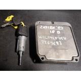Mootori juhtaju ja süütekomplekt + võti Opel Zafira 1.8 bensiin 2003 90582539 90519056