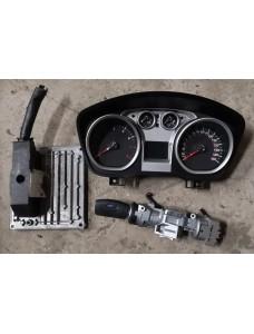 Süütekomplekt (mootori juhtaju, näidikud, võtmega süütelukk) Ford Focus 1.6i 2010 7M51-12A650-AFD 8V4T-10849-FH 3M51-3F880-AD