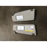Päikesesirmid vasak + parem Volkswagen Passat B6 2.0FSI 2006 3C0857551G 3C0857552G
